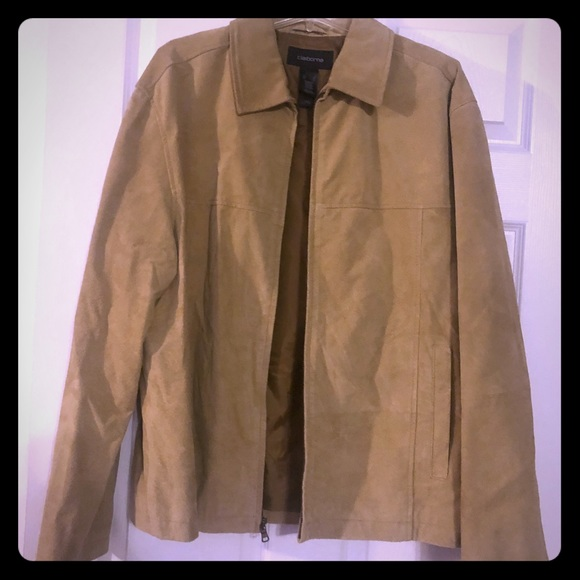e58e5385f52d Claiborne Other - Claiborne Men s Suede Jacket- Camel colored